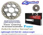 LIGHTWEIGHT 15/41 RACE GEARING: Renthal Sprockets and GOLD Tsubaki Sigma X-Ring Chain - Ducati 1198/1198S (2009-2011)